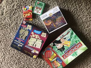 Board games and a puzzle for Sale in Fort Worth, TX