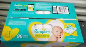 Diapers Newborn size 1 (8-14 lb), 96 Count - Pampers Swaddlers Disposable Baby Diapers, Super Pack for Sale in Clovis, CA