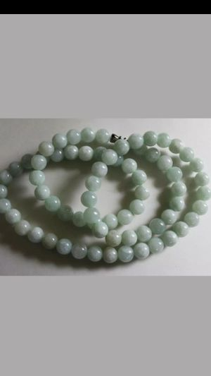 Sale!Certified untreated natural green jade jadeist bead 8mm necklace for Sale in Richmond, CA