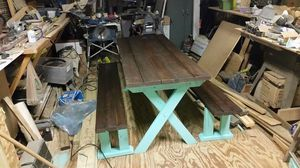 Summer is close get your picnic tables now custom built quality made if you can dream it I can build it for Sale in US
