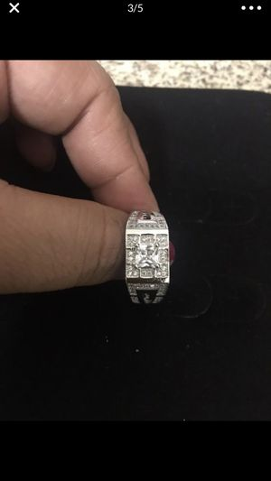 Men's 925 starling silver diamond wadding engagement rings sizes 11&12 for Sale in Moreno Valley, CA