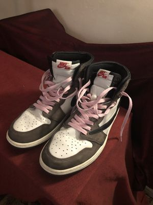 Jordan 1 Cactus Jacks/ Travis Scott pink laces. CLEAN for Sale in Los Angeles, CA