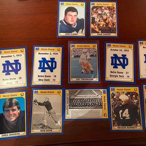 Note Dame College Football Cards, Including Joe Theismann And Everything Eles Pictured for Sale in Frederick, MD
