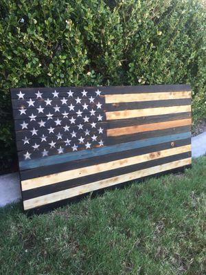USA wood flag for Sale in Yorba Linda, CA