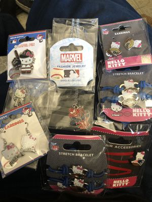 Hello kitty marvel nfl mlb jewelry for Sale in Baldwin Park, CA