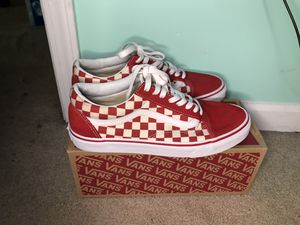 Red checkerboard vans for Sale in Lexington, SC