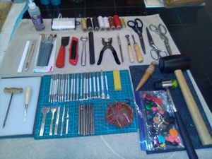 Lot of 80+ Leathercraft Tools & More for Sale in Mesa, AZ