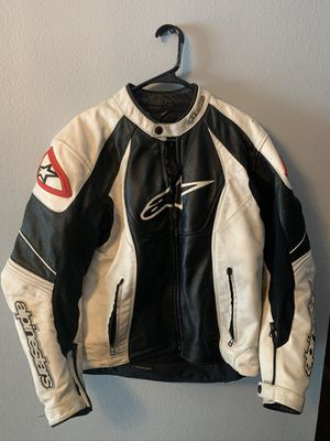 Alpinestars Leather Motorcycle Jacket - size 44 for Sale in Palm Harbor, FL