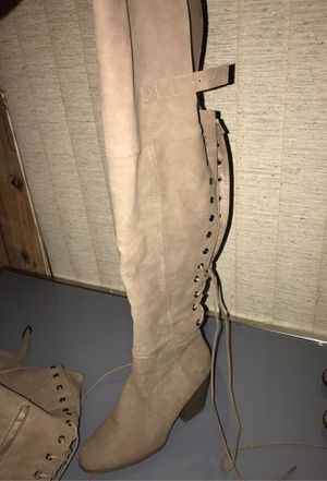 gray thigh high boots for Sale in El Monte, CA