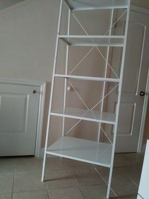 "White metal 5-tier triangular 72"" high shelf for Sale in North Miami Beach, FL"