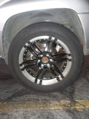 """20""""rims and tires trade for stock 17"""" that will fit a 2005 chevy Trail Blazer for Sale in Los Angeles, CA"""