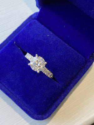2Ct Moissanite Engagement Ring 10k White Gold for Sale in Goose Creek, SC