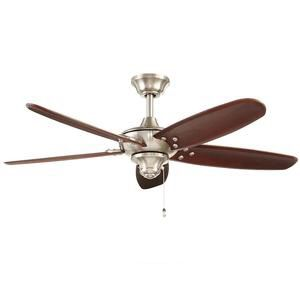 Altura 48 in. Indoor/Outdoor Brushed Nickel Ceiling Fan for Sale in Houston, TX