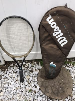 Wilson tennis racket with case for Sale in Mahwah, NJ