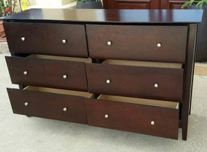 Beautiful SOLID WOOD 6 Drawers Dresser Clothes Storage Chest Organizer Stand Unit for Sale in Monterey Park, CA