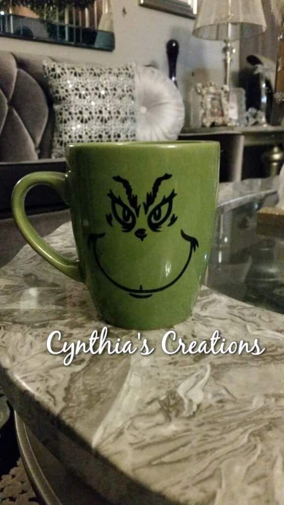Grinch custom coffee mug