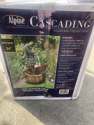 Alpine Cascading Fountain Collection old fashion Barrel fountain for Sale in Baldwin Park, CA