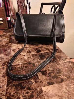 COACH Vintage Black Genuine Cowhide Leather Front Flap Small Messenger Style Shoulder Bag Purse for Sale in Phoenix, AZ