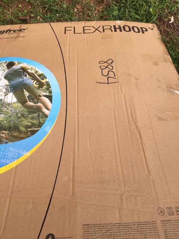 Trampoline Basketball Hoop Outdoor Fun Child Play Fun Foam Ball Adjustable
