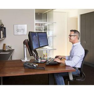 Ergotron® WorkFit-A Dual Monitor Stand + Free Extras (Retail Price: $559) for Sale in North Bethesda, MD