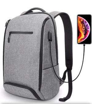 Brand new -laptop backpack anti-theft water resistant rucks fits up to 18 in laptop (light grey) for Sale in Nashville, TN