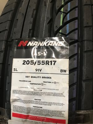 New Nankang AS-1 Tires 205/55R17 for Sale in Brooklyn, NY