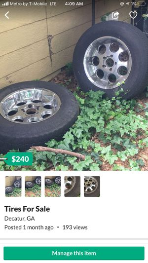 4 truck rims and tires 300$ for Sale in Decatur, GA