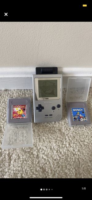 Silver Gameboy Pocket W/ 3 games. for Sale in Rockville, MD
