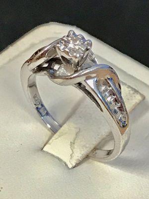 Diamond & silver engagement ring for Sale in Trenton, MI