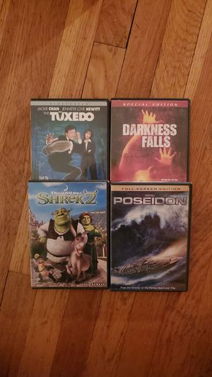 Poseidon, Shrek 2, Darkness Falls & The Tuxedo DVD (Lot of 4) for Sale in North Bergen, NJ