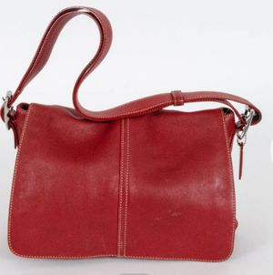 Red Coach Crossbody Messenger Bag for Sale in Fallbrook, CA