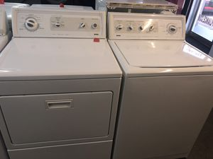 Used kenmore washer and dryer set. 1 year warranty for Sale in St. Petersburg, FL