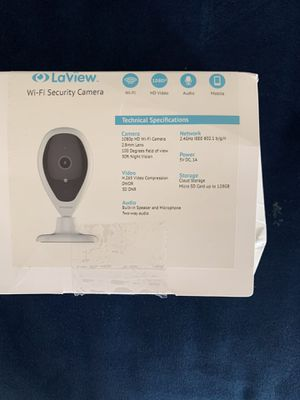 LaView HD 1080P Indoor Wi-Fi Security Camera with Two-Way Audio, Night Vision and Remote view.(No SD card included) for Sale in Pinole, CA