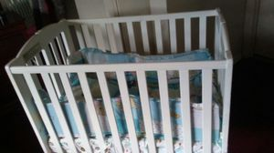 mini baby crib with matteress for Sale in Riverdale, MD