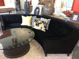 New Black Circular Sectional Sofa Couch for Sale in Palm Desert, CA