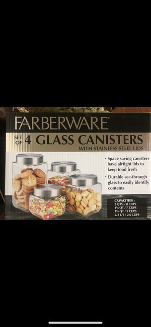 4 glass canisters for Sale in El Cajon, CA