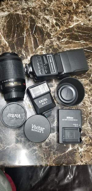 Nikon lenses and accessories for Sale in Houston, TX