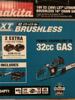 Brushless Chainsaw Kit With 2 Extra Batteries for Sale in North Las Vegas,  NV