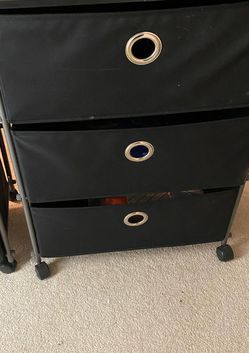 Black Storage 3-Bin with Wheels and Tabletop for Sale in Fairfax,  VA