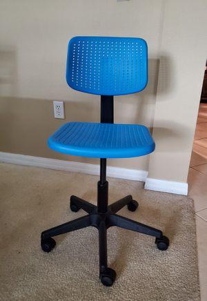 Ikea desk chair blue for Sale in Sanford, FL