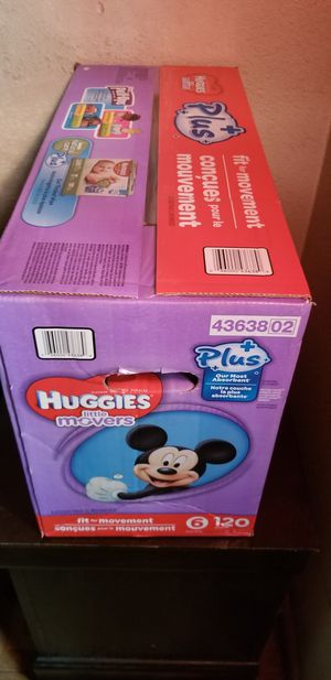 Huggies little movers size 6 120 daipers $44 firm price for Sale in Los Angeles, CA
