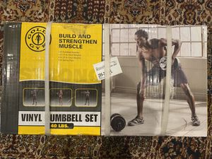 Gold's Gym Vinyl Dumbbells Pair Weight Set, 1 Inch, adjustable 40 lbs total, BRAND NEW for Sale in Springfield, VA