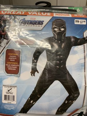 Black Panther Halloween Costume Size 8-10 for Sale in Riverside, CA