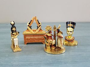 Egyptian Collectible Statues and Trinket Box for Sale in Glenwood, IA
