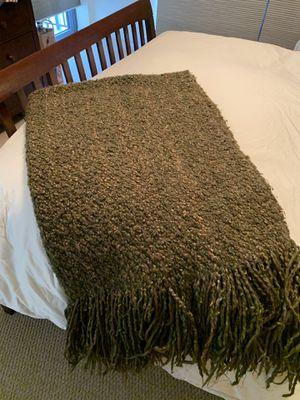 Pottery Barn Throw Blanket Greens - moss, olive, etc for Sale in Arlington, VA