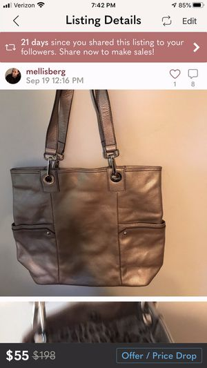 New Perlina leather tote handbag never worn for Sale in Scarsdale, NY