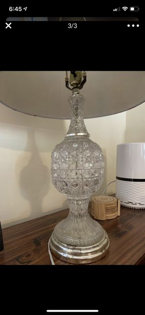 "Vintage Cut Glass Crystal Lamp 20"" Height, 7"" Bottom Diameter for Sale in Hermosa Beach, CA"