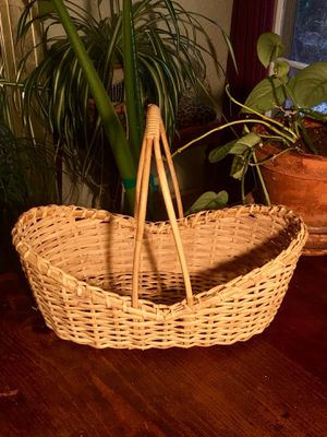 Easter Basket Wicker Rattan Bamboo Woven Basket With Handle Boho Chic Plant Basket Shabby Chic Catch All Basket Decor - Pick Up LA or OC for Sale in Los Angeles, CA
