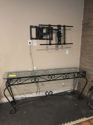 Chic Glass & Iron Console Table for Sale in El Dorado Hills, CA