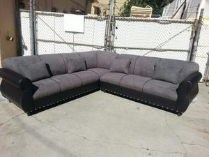 NEW 9X9FT CHARCOAL MICROFIBER SECTIONAL COUCHES for Sale in Santa Paula, CA